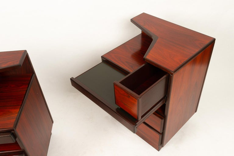 Pair of Danish Vintage Rosewood Nightstands, 1970s For Sale 6