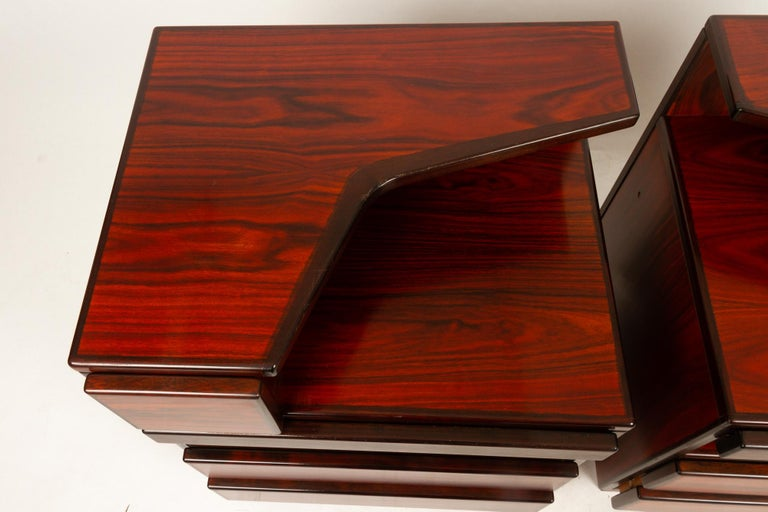 Pair of Danish Vintage Rosewood Nightstands, 1970s For Sale 10