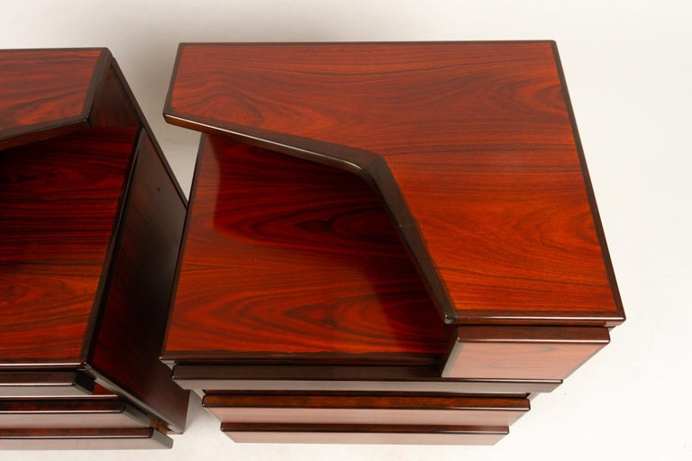 Pair of Danish Vintage Rosewood Nightstands, 1970s For Sale 11