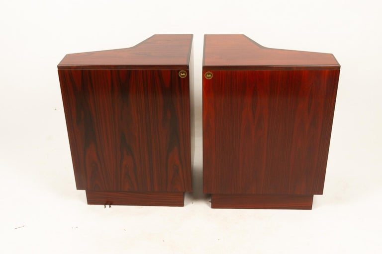 Pair of Danish Vintage Rosewood Nightstands, 1970s For Sale 14
