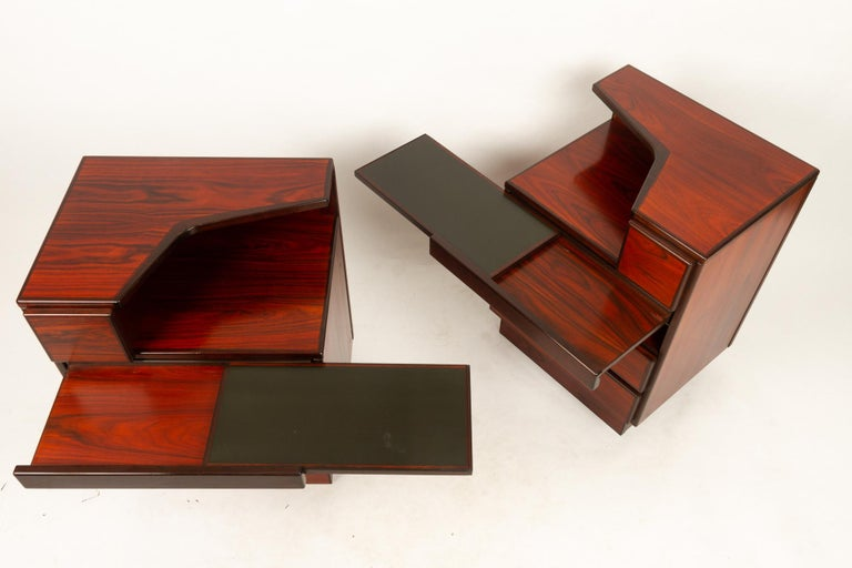 Pair of Danish Vintage Rosewood Nightstands, 1970s For Sale 2
