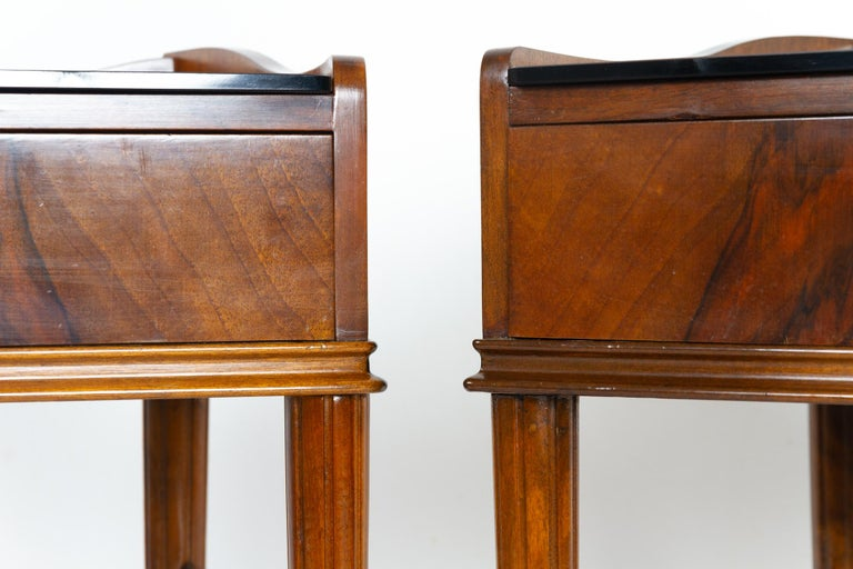 Pair of Danish Walnut Bedside Tables, 1950s For Sale 5