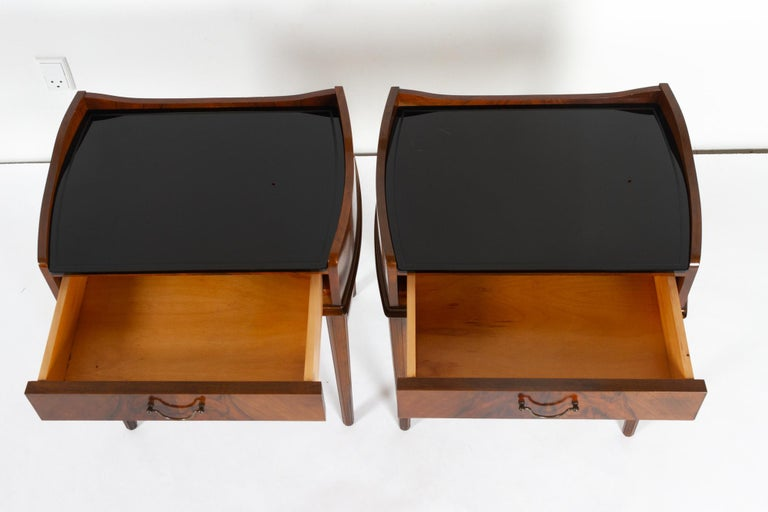 Pair of Danish Walnut Bedside Tables, 1950s For Sale 6