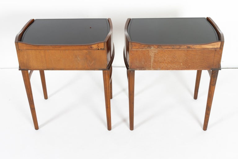 Pair of Danish Walnut Bedside Tables, 1950s For Sale 10