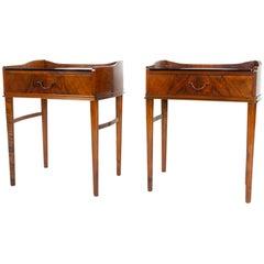 Pair of Danish Walnut Bedside Tables, 1950s