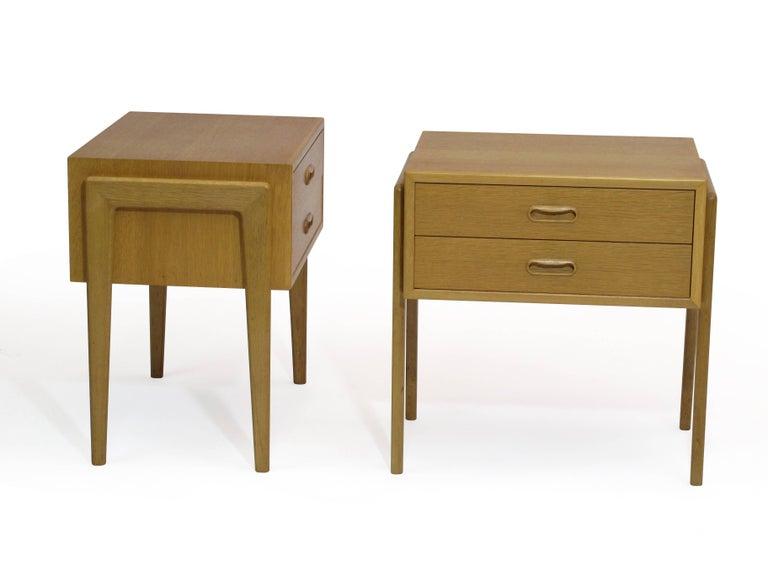 pair of danish white oak nightstands side tables at 1stdibs. Black Bedroom Furniture Sets. Home Design Ideas