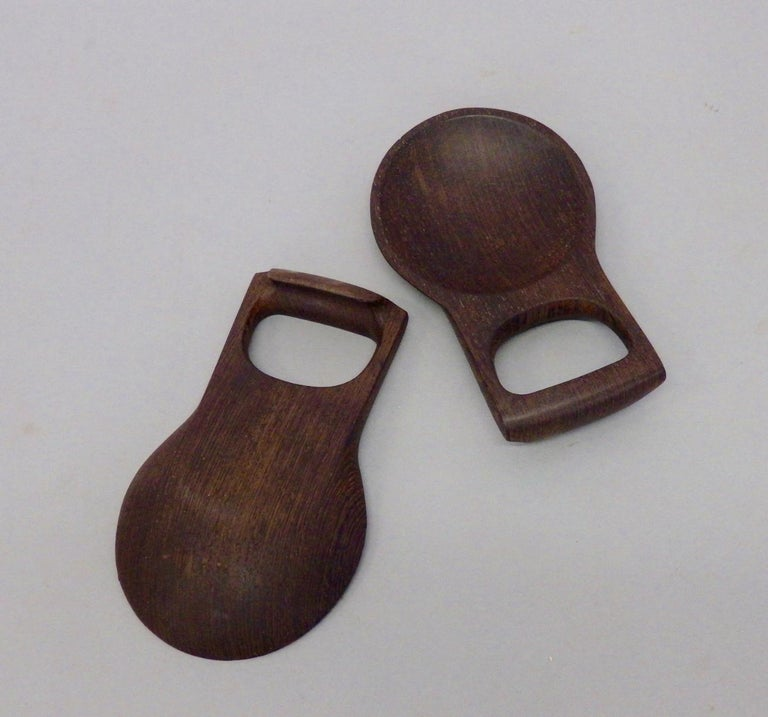Mid-20th Century Pair of Dansk Wenge Exotic Wood Salad Servers For Sale