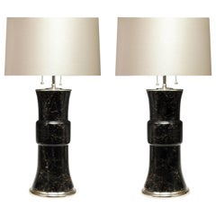 Pair of Dark Rock Crystal Lamps by Phoenix