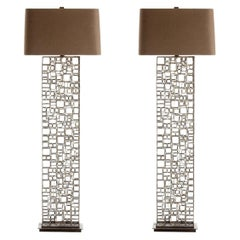 Pair of Darren Iron and Brass Floor Lamps from Arterior