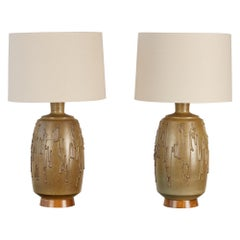 Pair of David Cressey Stoneware Lamps