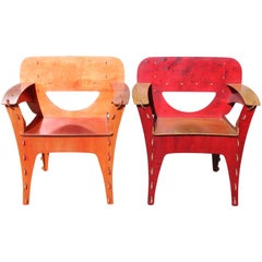 "Pair of David Kawecki ""Puzzle"" Chairs"
