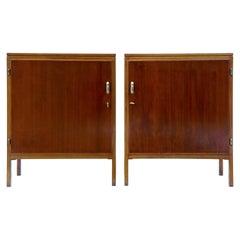 Pair of David Rosen 1950s Mahogany Cabinets for Nordiska Kompaniet