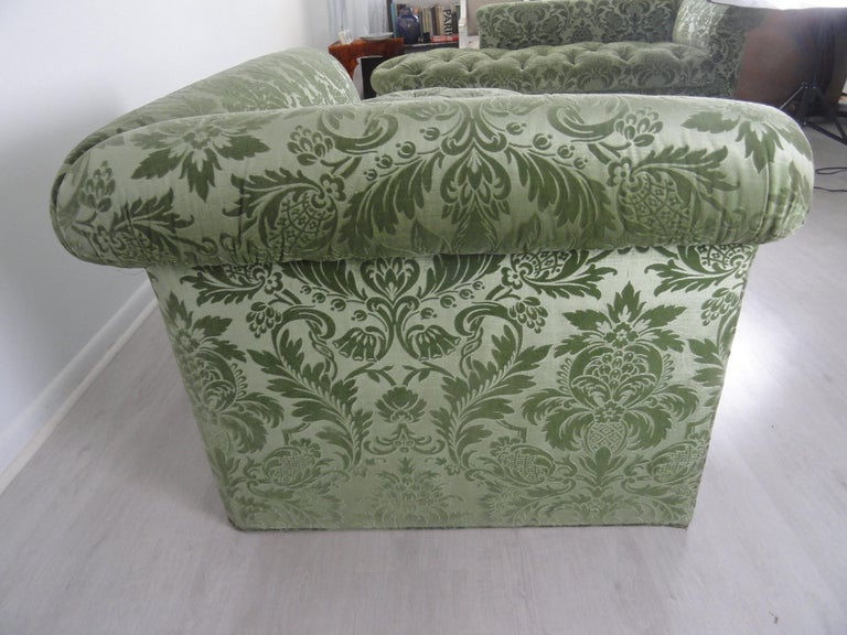 Pair of De Angelis, Ltd Custom Opposing Sofas/Daybeds For Sale 8