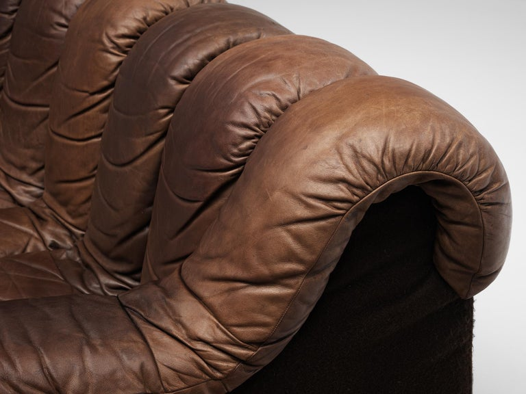 Pair of De Sede DS-600 Sofas in Brown Leather For Sale 4