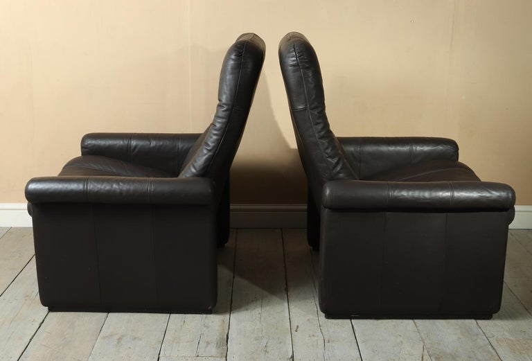 Pair of De Sede DS50 Reclining Armchairs For Sale 4