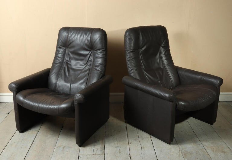 Pair of De Sede DS50 Reclining Armchairs For Sale 5