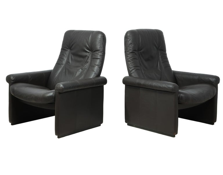 Pair of DeSede DS50 Reclining Armchairs