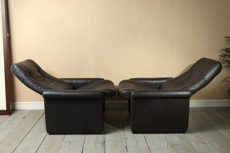 Pair of De Sede DS50 Reclining Armchairs For Sale 1