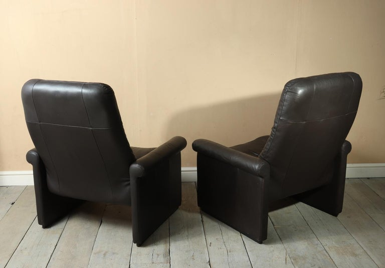 Pair of De Sede DS50 Reclining Armchairs For Sale 2