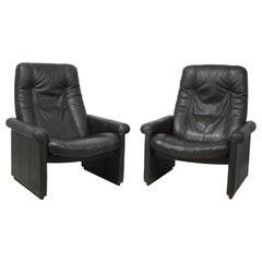 Pair of De Sede DS50 Reclining Armchairs
