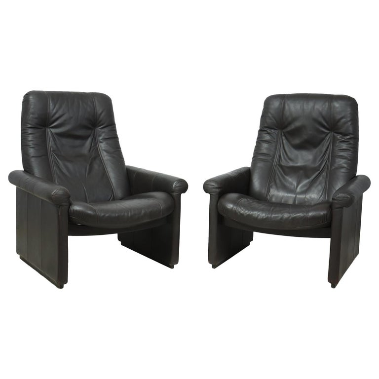 Pair of De Sede DS50 Reclining Armchairs For Sale