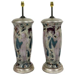 Pair of Declamania Lamps Inspired by Cranach