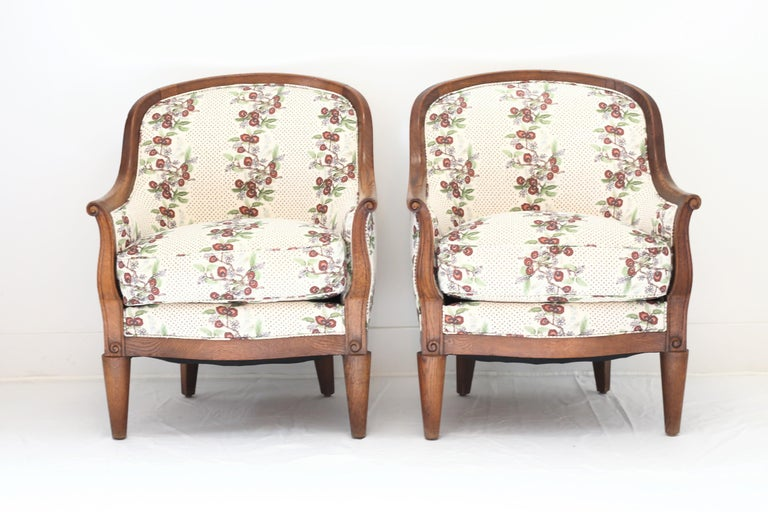 Pair of Deco Armchairs In Good Condition For Sale In West Hollywood, CA