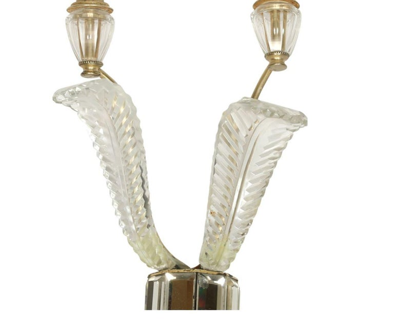 Pair of Deco Crystal Two Arm Jansen Style Sconces In Good Condition For Sale In Locust Valley, NY