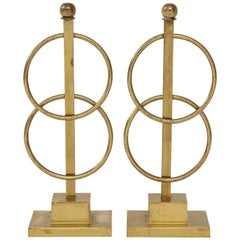 Pair of Decorative Andirons or Fireplace Accessories