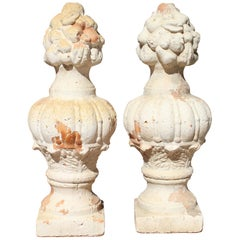 Pair of Decorative French Terracotta Flower Vases