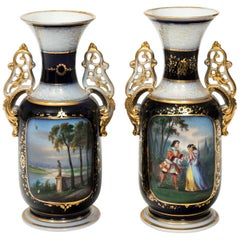 Pair of Decorative French Vases, circa 1890