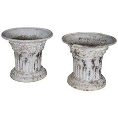 Pair of Decorative Iron Cast Louis XVI Vases