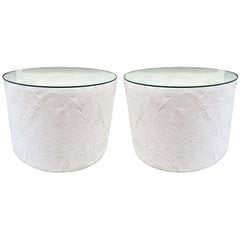 Pair of Decorative Plaster Pedestals Style of John Dickinson