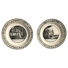 Pair of Decorative Plates, circa 1820, Creil et Montereau