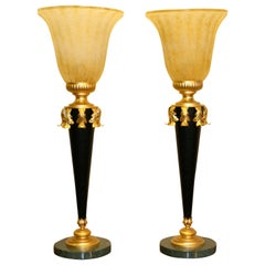 Pair of Decorative, Table, Desk Lamps, 20th Century, Antique Style