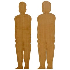 Pair of Decoratives Wood Silhouettes in the Style of Mario Ceroli, circa 1970