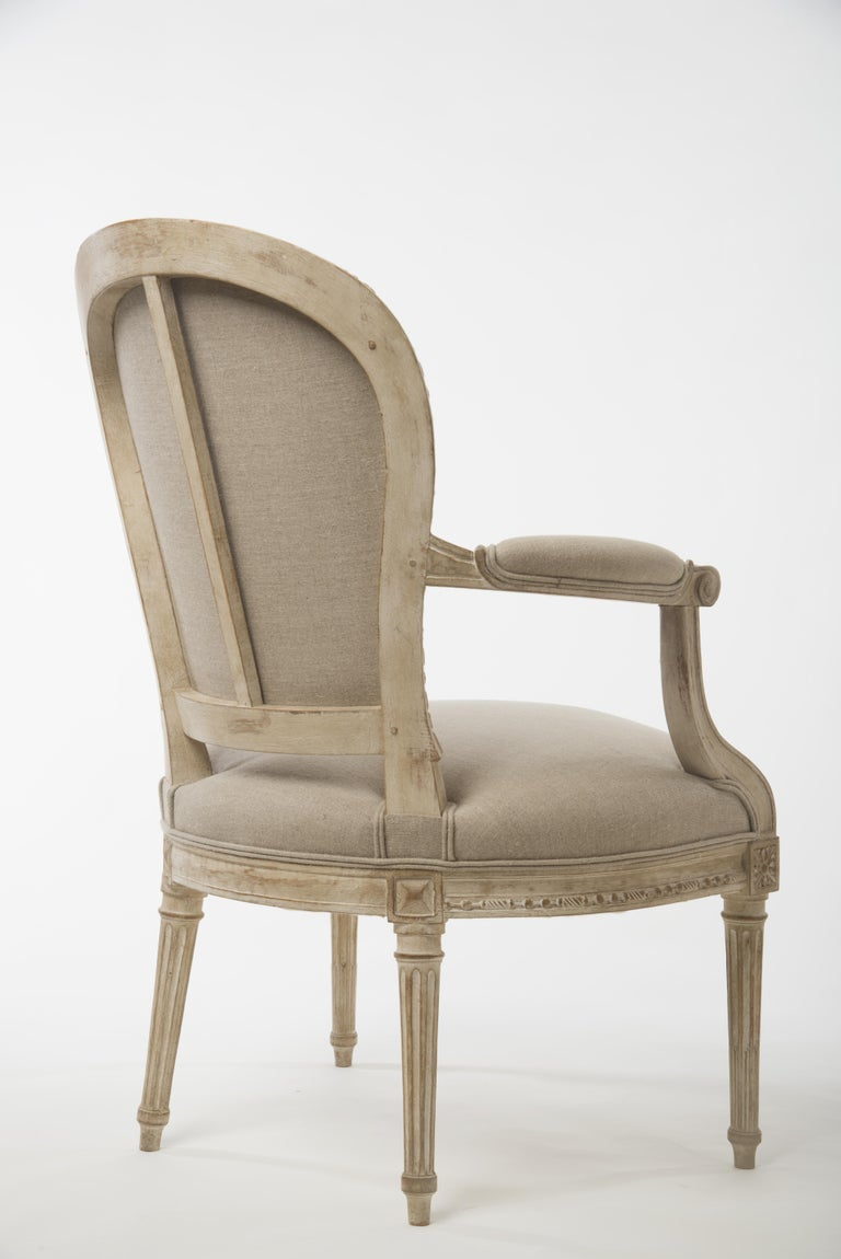 Pair of Delaisement Cabriolet Armchairs in the Style of Louis XVI 3