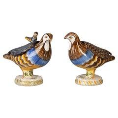 Pair of Delft Bird Boxes, circa 1860