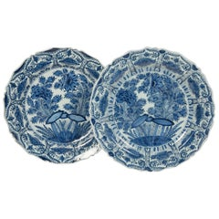 "Pair of Delft Blue and White Chargers circa 1770 by De Porceleyn Bijl ""The Axe"""