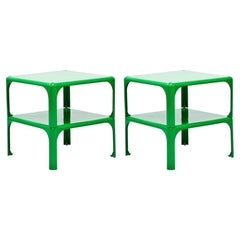 "Pair of ""Demetrio 45"" Stackable Side Tables by Vico Magistretti for Artemide"