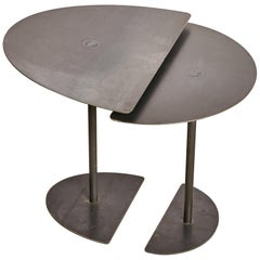 Pair of Demi-Lunes Side Tables Signed by Pia Chevalier
