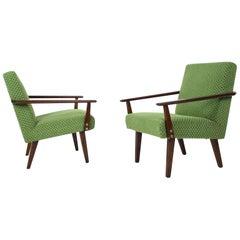 Pair of Design Armchairs, Czechoslovakia