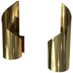 Pair of Design Brass Sconces