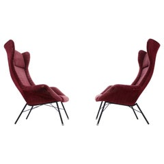 Pair of Design Fibreglass Armchairs by Miroslav Navratil, 1970s