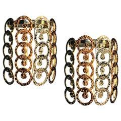 Pair of Design Murano Glass Giogali Sconces
