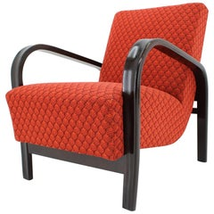 Pair of Design Renovated Armchairs by Arch. Kropacek and Kozelka, 1950s