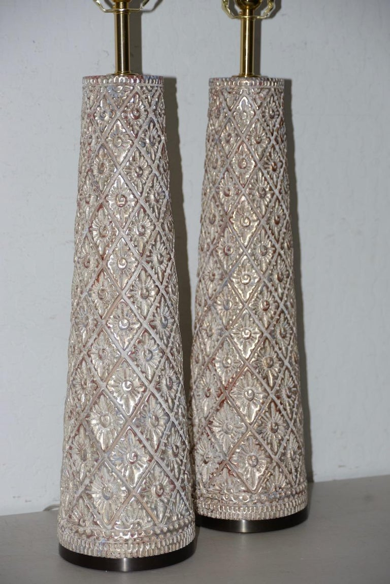 Mid-Century Modern Pair of Designer Table Lamps by James Mont, 20th Century For Sale