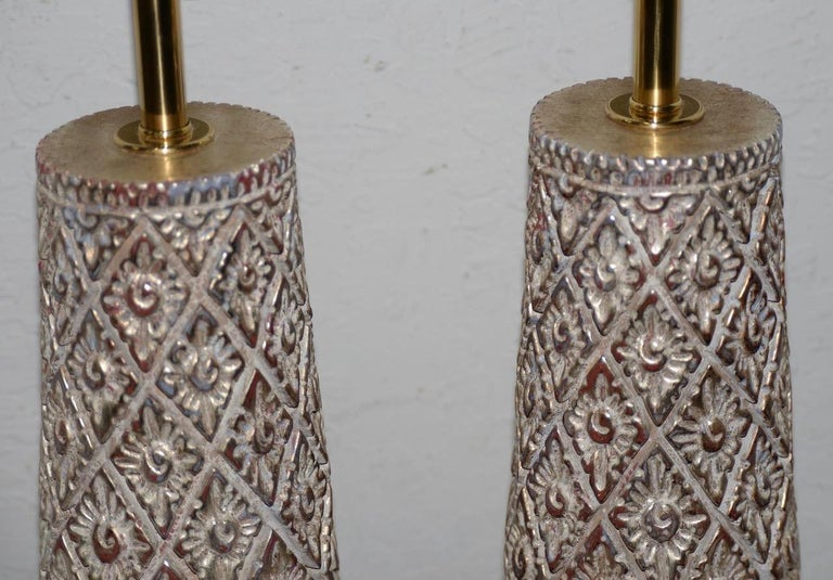 Pair of Designer Table Lamps by James Mont, 20th Century For Sale 1