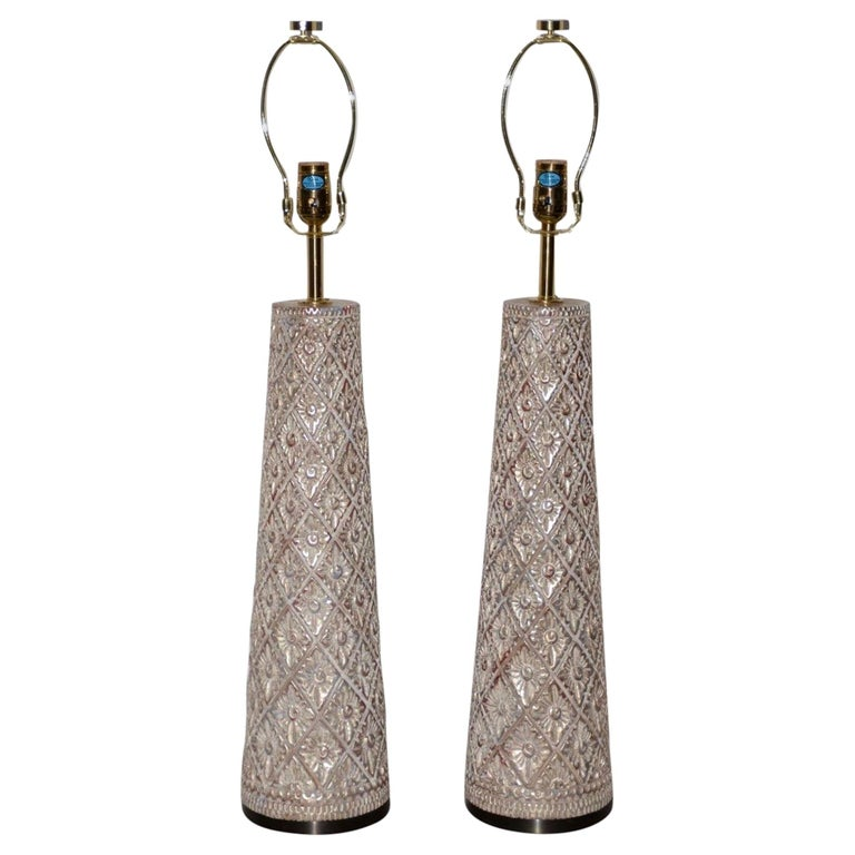 Pair of Designer Table Lamps by James Mont, 20th Century For Sale