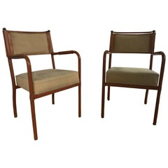 Pair of Desk Armchairs by Jacques Adnet